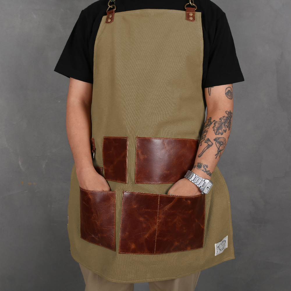 LEATHER APRON YELLOW (MAA-LAP-Y)