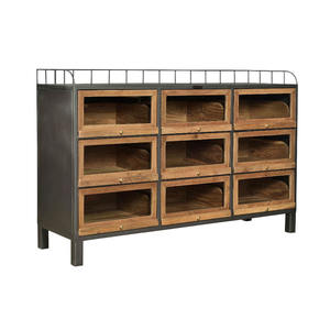 WOOD & IRON 9 DR CABINET (BHANCK-CS044A)