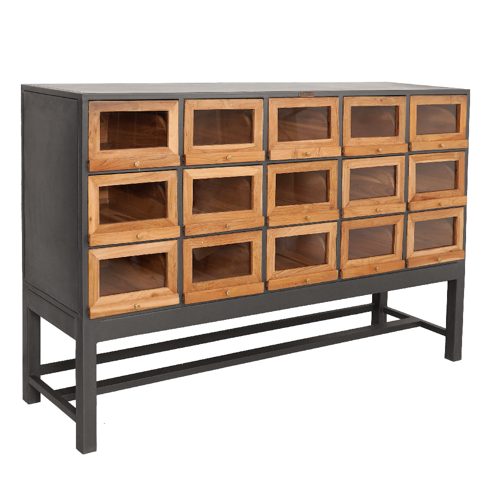 WOOD & IRON 15 DR SIDE BOARD CABINET (BHANCK-CS045)