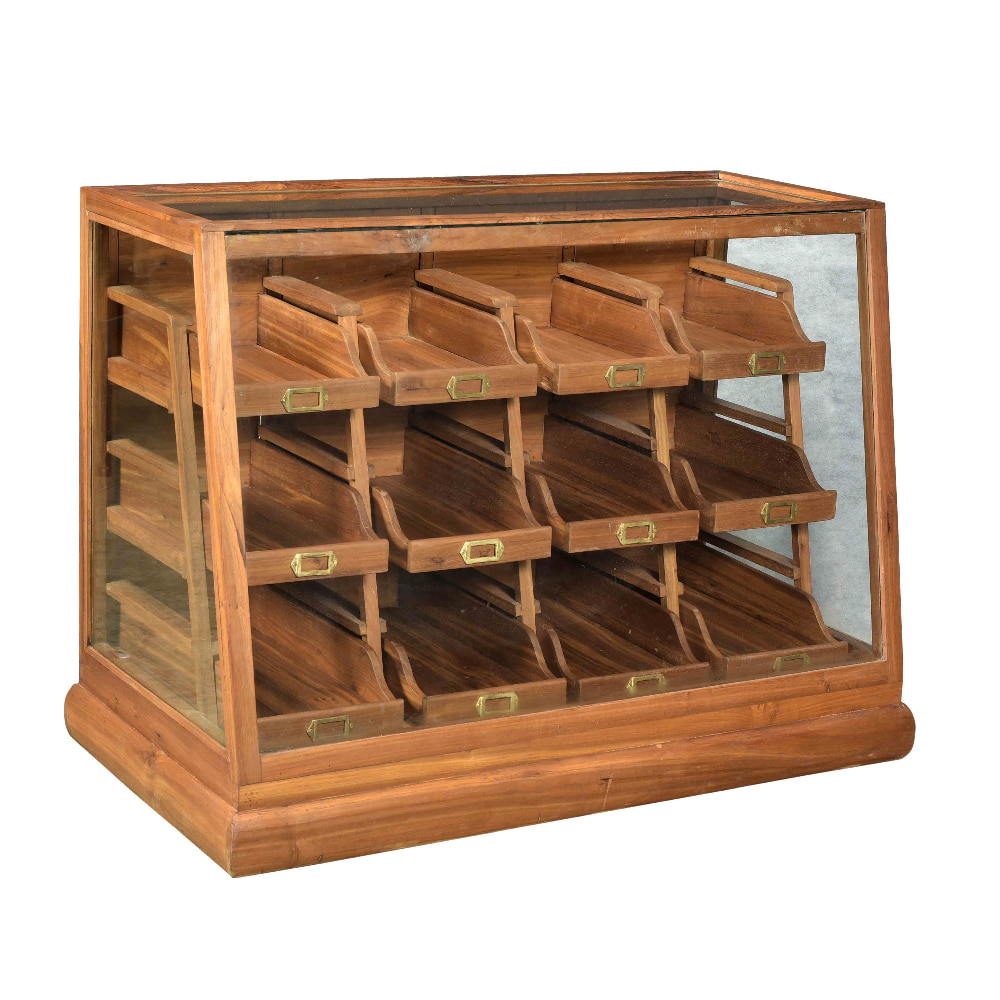 WOODEN 12 DRAWER SHOWCASE CABINET (BHANCK-CS047)