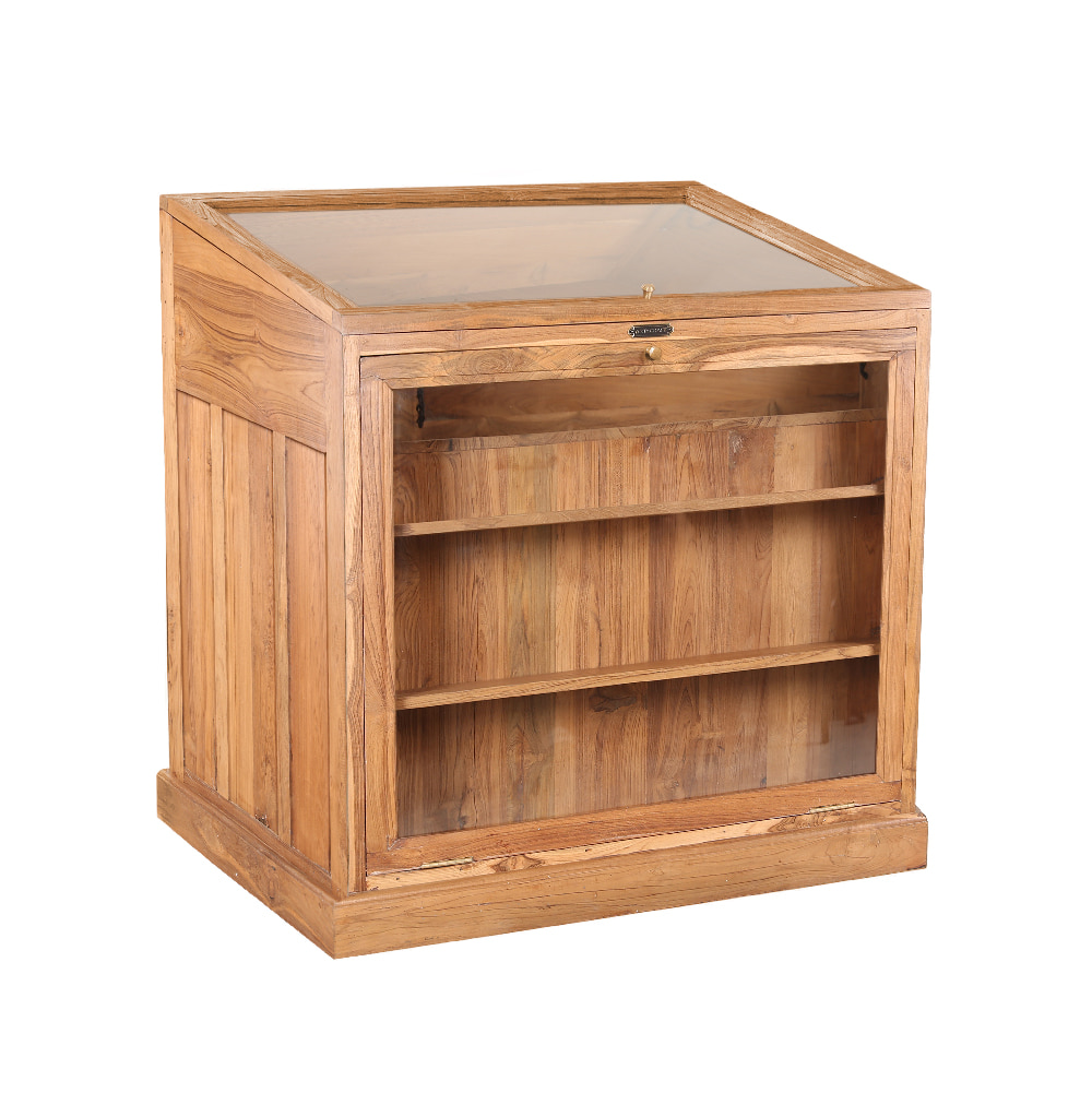 WOODEN 8 DR OPEN DOOR SHOWCASE CABINET (BHANCK-CS048)