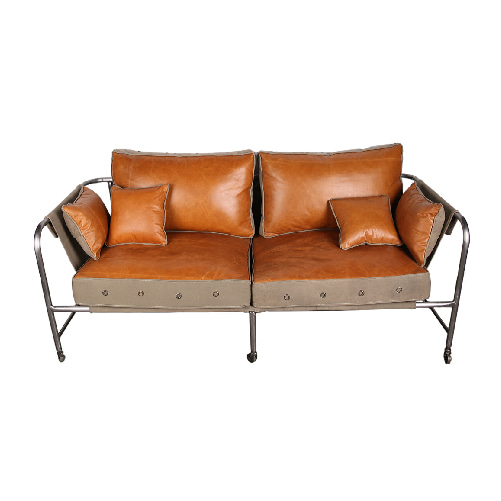 CANVAS AND LEATHER 2 SEATER SOFA (BHANCK-S002D) tvN도깨비협찬