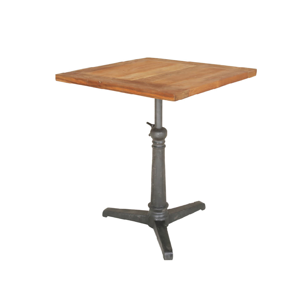 IRON & WOOD SQ. TABLE (BHANCK-T026)