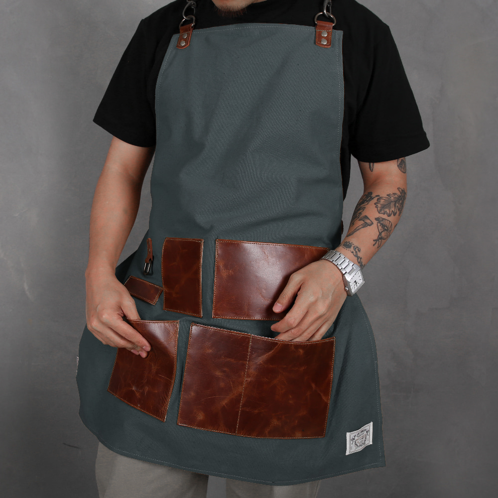 LEATHER APRON KHAKI (MAA-LAP-K)